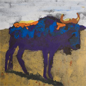 Blue Gnu by Edith L.