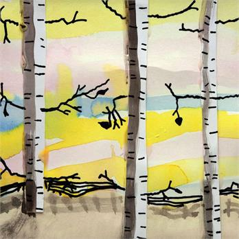 Winter Birch Trees by Lorelai H.